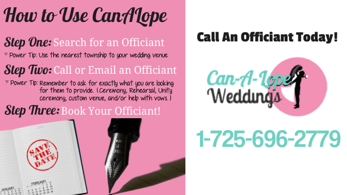 How to Use Can-A-Lope Wedding Officiants