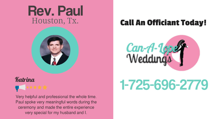Wedding Officiant Houston TX