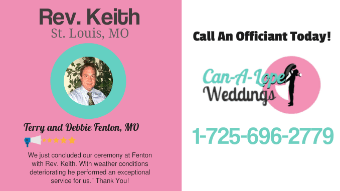 Keith Wedding Officiant St. Louis